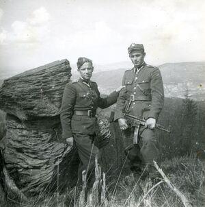 ks. Władysław Gurgacz i Stanisław Szajna latem 1949 r. Fot. Tadeusz Ryba, zbiory IPN